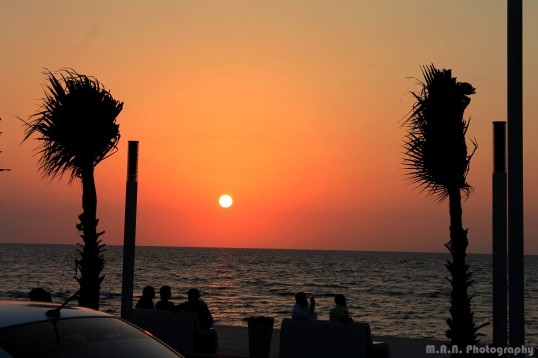 Sunset at the Jeddah Corniche.