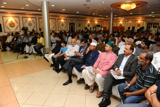 A very diverse audience commemorating the 140th birthday of the Father of Urdu.