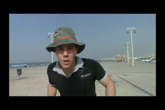 Presenting on the Corniche.