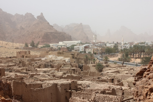 perfect view of the old and new Al Ula and the same time