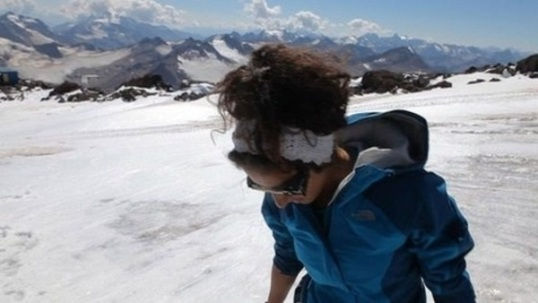 Raha Moharrak, first Saudi woman to climb Mount Everest.