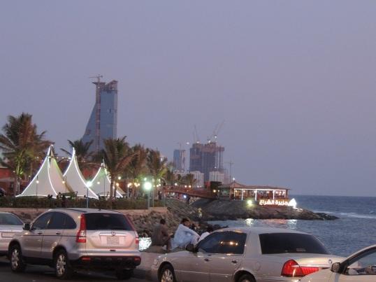 Sitting by the Corniche, cherishing the famous Jeddah sunset.