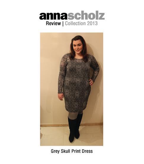 Grey Skull Print Dress