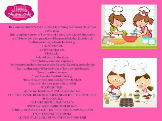 pamphlet for Summer workshops in Jeddah.