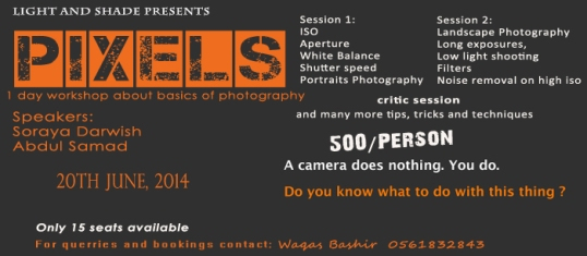 Pixels Photography Workshop Jeddah