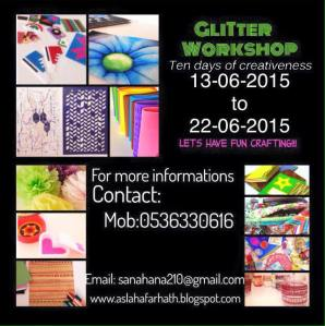 glitter workshop